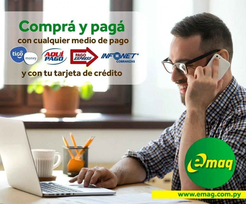 En EMAQ tenemos todos los medios de pagos para tu facilidad a la hora de tus compras.
