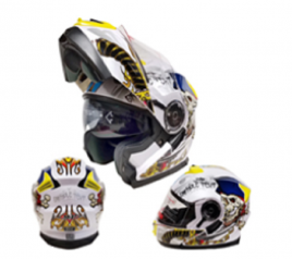 Casco Sport MP-160 Blanco/Amarillo
