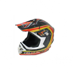 Casco cross BLD-819-S negro/rojo (DOT)