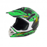 Casco Cross BLD-819-S Negro/Verde (DOT)