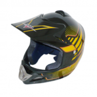 Casco Cross Star MP-818 Negro/Amarillo