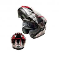 Casco Sport MP-160 Gris/Rojo (DOT)