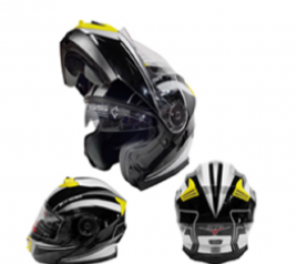 Casco Sport MP-160 Negro/Amar. (DOT)