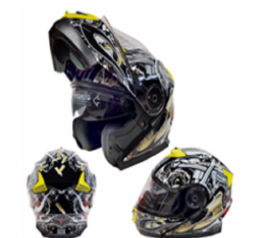 Casco Sport MP-160 Negro/Amarillo