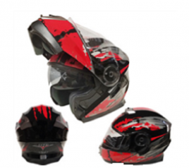 Casco Sport MP-160 Negro/Rojo (DOT)